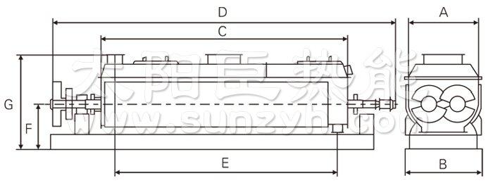 产品介绍 该产品可对膏状、颗粒状、粉状、浆状物料间接加热或冷却,可完成干燥、冷却、加热、灭菌、反应、低温燃烧等单元操作。设备中特殊的楔型搅拌传热浆叶具有较高的传热效率和传热面自清洁功能。 工作原理 空心轴上密集排列着楔型中空浆叶,热介质经空心轴流经浆叶。单位有效容积内传热面积很大,热介质温度从-40到320,可以是水蒸汽,也可以是液体型:如热水、导热油等。间接传导加热,没有携带空气带走热量,热量均用来加热物料。热量损失仅为通过器体保温层向环境的散热。楔型浆